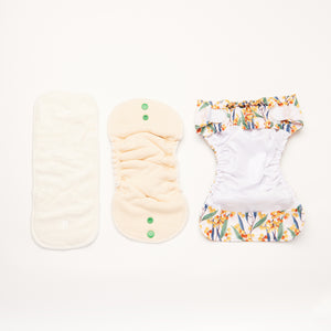 Wattling Along | Newborn Cloth Nappy