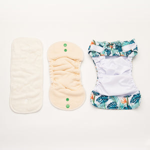 Fern Down For What | Newborn Cloth Nappy
