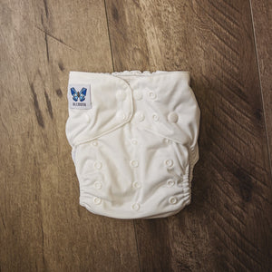 V1.5 | Pocket Nappy - Clara-ty White