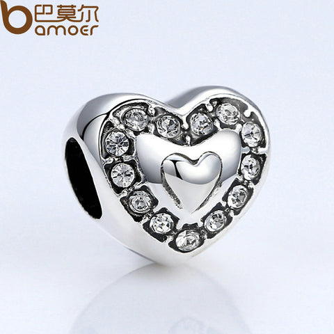 Heart With Crystals Charm