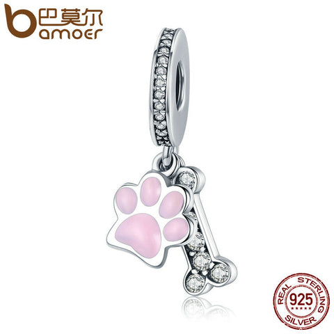925 Sterling Silver Love My Pup Pendant