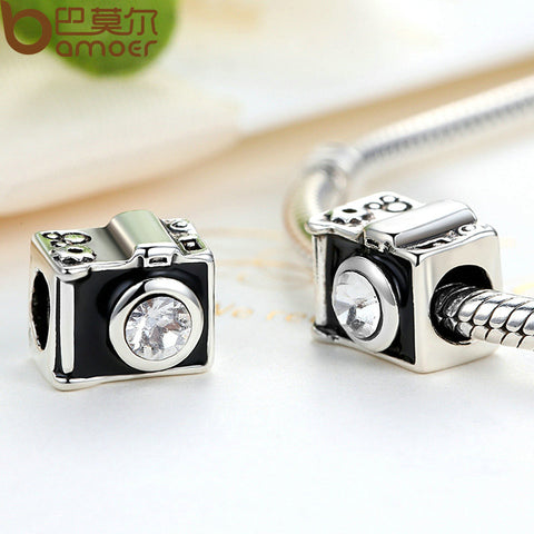 Silver Plated Camera Charm
