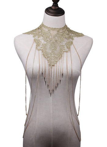 Designer Lace Necklace/Body Piece