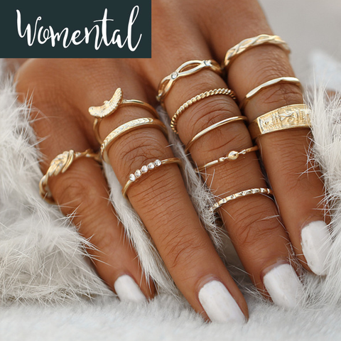 12Pcs/set Minimalistic Midi Ring Set