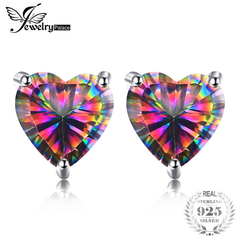 925 Sterling Silver Rainbow Topaz Earrings