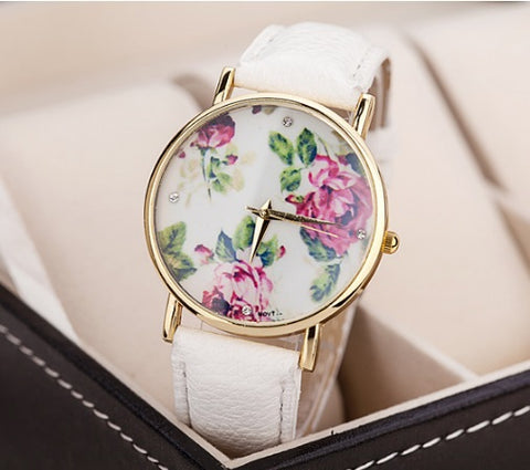 Vintage Flowers Watch