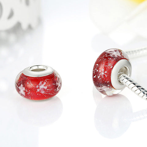 Speckled Red Murano Glass Bead