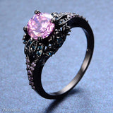 Pink Zircon Gold Filled Stone Ring