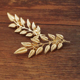 Gold/Silver Leaf Collar Brooch