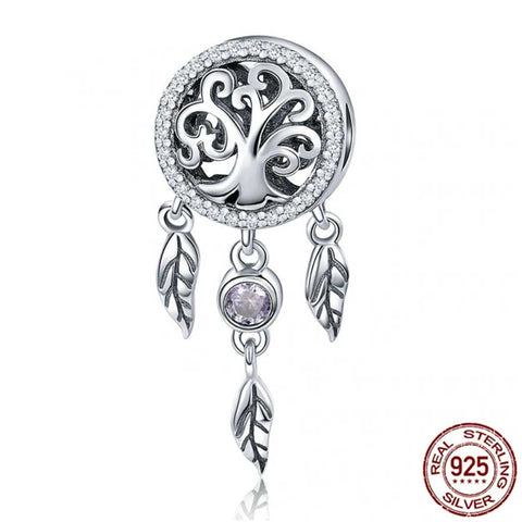 925 Sterling Silver Tree of Life Dangle Charm