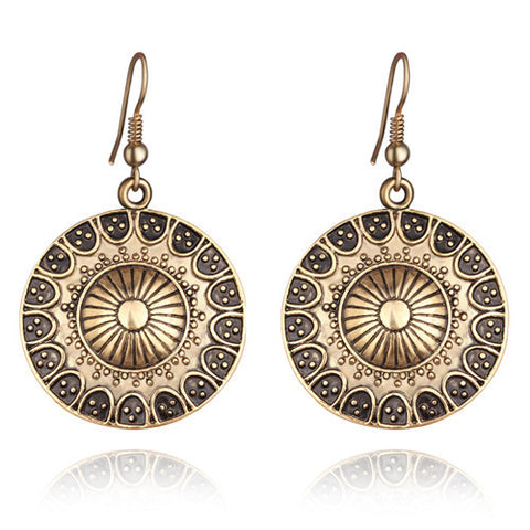 Boho Vintage Tibetan Earrings
