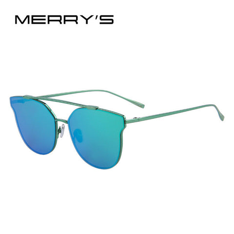 Modern Cat Eye Sunglasses - Green Ombre