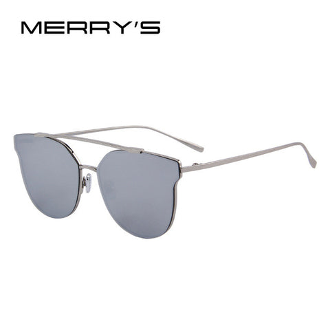 Modern Cat Eye Sunglasses - Silver