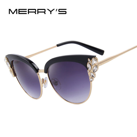 Flower Jewel Crystal Sunglasses