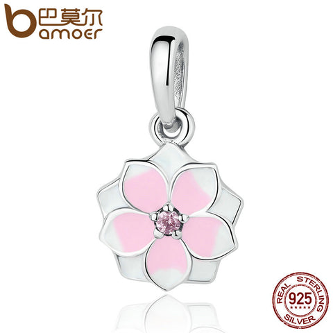 925 Sterling Silver Magnolia Bloom Charm