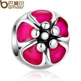 Exquisite Silver & Pink Enamel Cherry Blossom