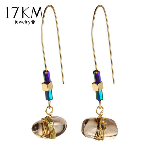 Bohemian Stone Drop Earrings