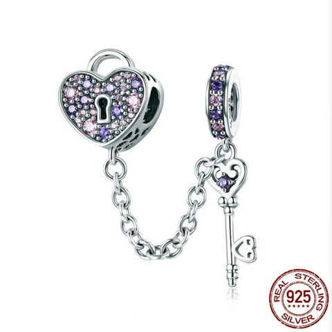 925 Sterling Silver Lock of Love Charm