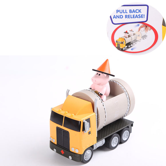 Disney Toy Story Exclusive Hamm Mini-Figure + Pipe Truck Pull & Go Vehicle