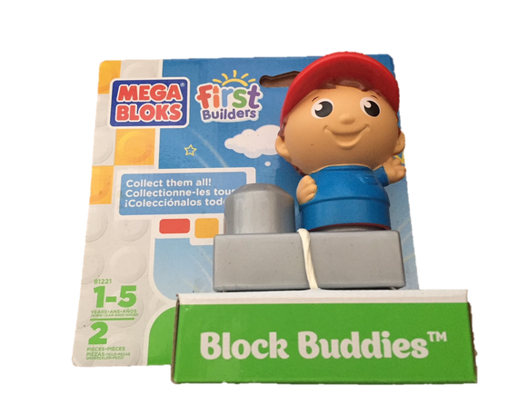 Mega Bloks First Builders Block Buddies ( mega bloks first builders block buddies boy with hat )