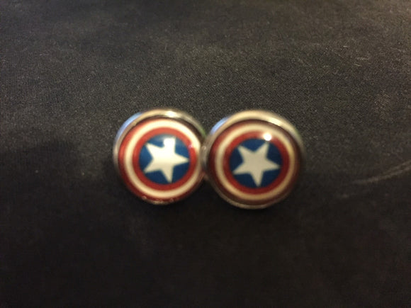 Captain America Earrings - earrings