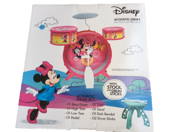 Disney Minnie Mouse Acoustic Jazz Drum Set - Music