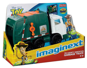 Disney Fisher Price Imaginext Toy Story Tri - County Sanitation Garbage Truck
