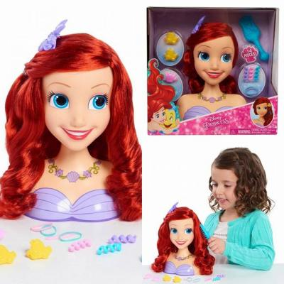 Disney Princess Ariel Styling Dolls Head -  Doll