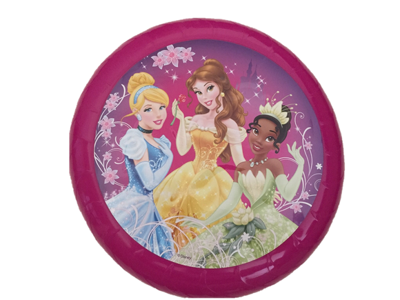 Disney Frisbee Flying Disc with Cinderella, Beauty and the Beast and Tiana