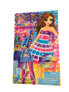 Diva Fashions Dress Up Sticker Doll - Colouring