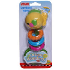 Fisher Price Ocean Wonders Dumbell Rattle - Fish