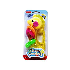 Fisher Price Ocean Wonders Dumbell Rattle - Seahorse