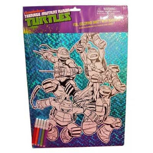 Foil Colouring Sheet- Teenage Mutant Ninja Turtles