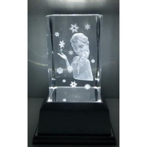 Frozen 3D inscribed Crystal - damaged stock