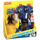 Fisher  Price Imaginex Police Robot Blue- Robots  Robot - Damaged