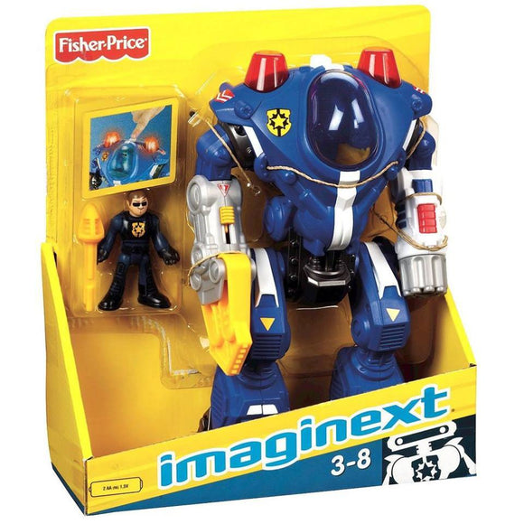 Fisher  Price Imaginex Police Robot Blue- Robots  Robot