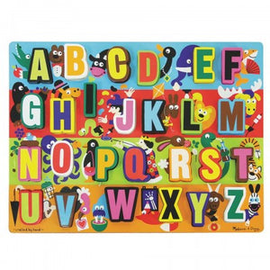 Melissa and Doug Chunky Alphabet Puzzle Damaged Stock ( melissa and doug chunky alphabet puzzle , puzzles , wooden puzzle , wooden puzzles )