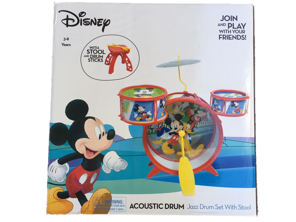 Disney Mickey Mouse Acoustic Jazz Drum Set - Music