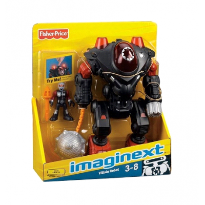 Fisher Price Imaginext Villain Robot Black- Robots Robot
