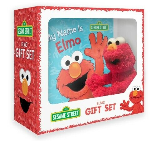 Sesame Street Elmo Book and Elmo Plush Toy Gift Set
