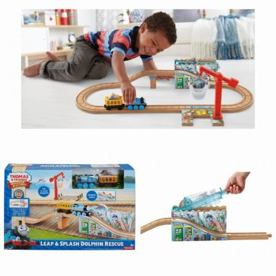 Thomas and Friends Wooden Railway Leap And Splash Dolphin Rescue - trains , Train , train
