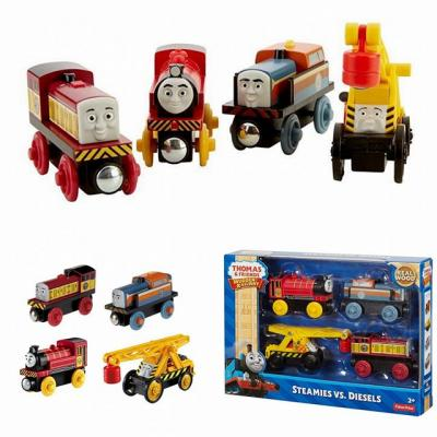 Thomas The Tank Engine And Friends Wooden Train Railway Steamies Vs Diesels - Trains , trains