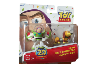 Disney Toy Story Figurines  - Buzz Lightyear and Slinky Dog