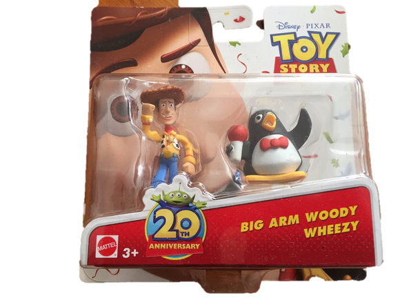 Disney Toy Story Figurines - Woody and Wheezy the Penguin