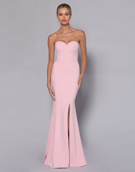 Janie Sweetheart Fishtail Gown - Blush
