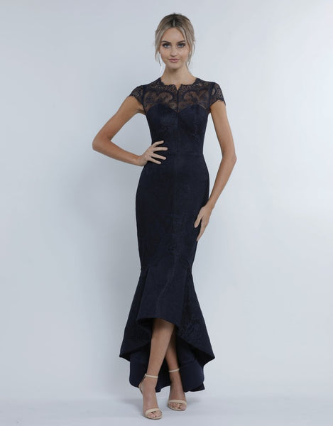 Alexis Chantilly Fishtail Midi -  Midnight Blue