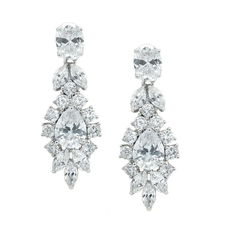 Madeline - Art Deco Bridal Drop Earrings