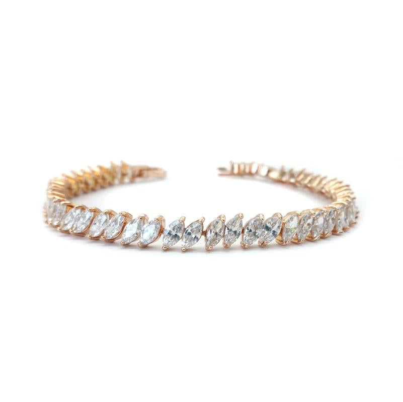 Madison - CZ Single Row Marquise Bracelet