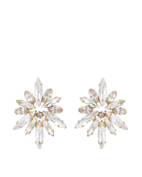 Badgley Mischka - Gold and Crystal Starburst Earrings
