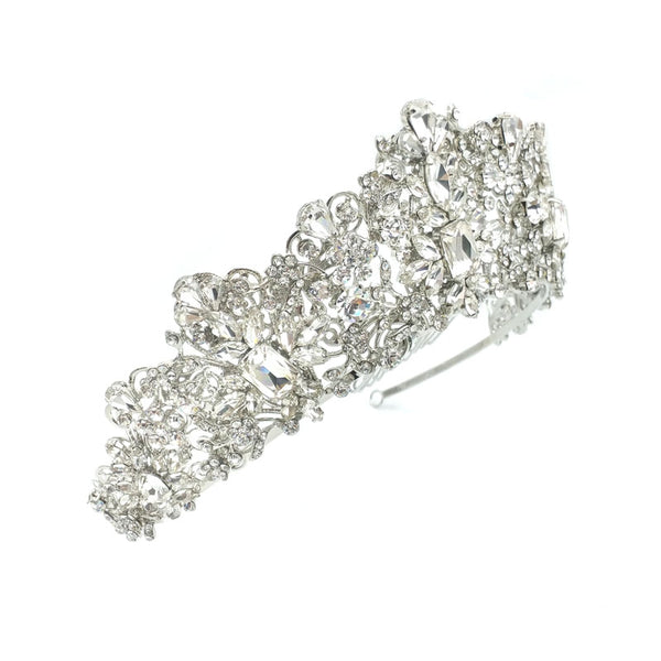Taylor Crystal Crown (Rhodium Plated)